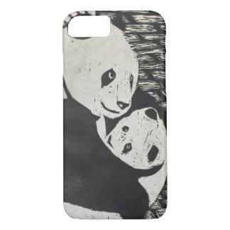 De Panda van de moeder - Panda draag met welp - iPhone 8/7 Hoesje