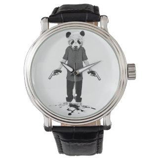 De panda van de moordenaar polshorloges