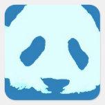 De Panda van het baby Vierkante Stickers