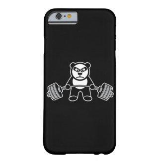 De Panda van het gewichtheffen draagt Cartoon Barely There iPhone 6 Hoesje
