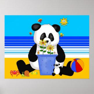 De Panda van het Kind van de Kunst van het poster
