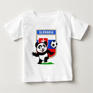 De Panda van het Voetbal van Slowakije Baby T Shirts