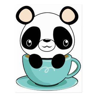 De Panda van Kawaii in een Theekopje Briefkaart