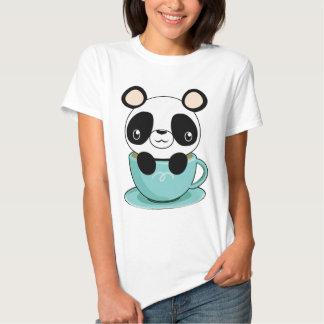 De Panda van Kawaii in een Theekopje T-shirts