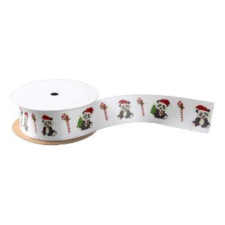 De Panda van Kerstmis draagt Satijnen Lint