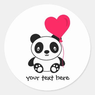 De Panda van Valentijn Ronde Sticker