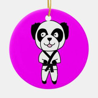 De Panda van vechtsporten draagt Ornament
