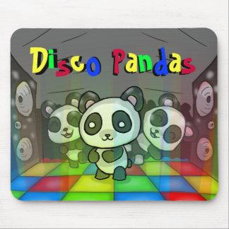 De Panda's Mousepad van de disco Muismat