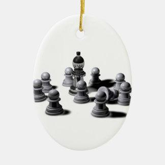 De Panden van het schaak Keramisch Ovaal Ornament