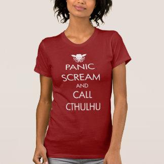 De Paniek en Vraag Cthulhu van de schreeuw T Shirt