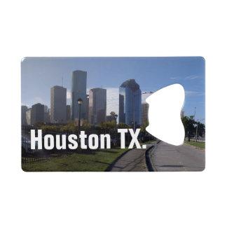 (De Panoramische) Horizon van Houston Texas Creditkaart Flessenopener