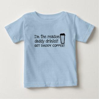 de papa drink koffie baby t shirts