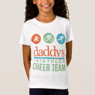 de papa triathlon juicht team toe t shirt