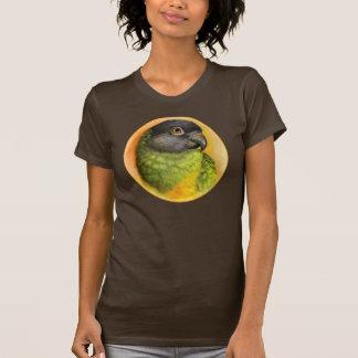 De papegaai van Senegal het realistische T Shirt