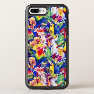 De Papegaaien van de waterverf OtterBox Symmetry iPhone 8 Plus / 7 Plus Hoesje