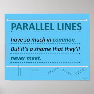 De Parallelle Lijnen van het Citaat van de Humor Poster