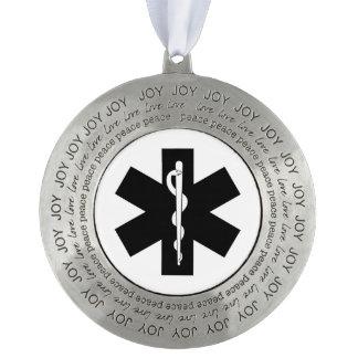 De Paramedicus van EMS EMT Tin Rond Ornament