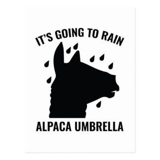 De Paraplu van de alpaca Briefkaart
