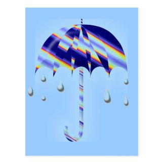 De Paraplu van de lente Briefkaart