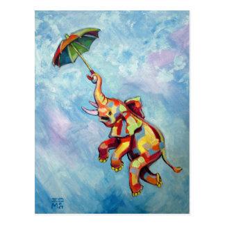 De Paraplu van de olifant Briefkaart