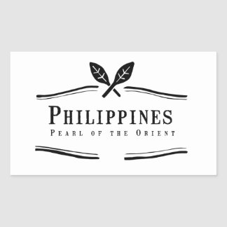 De Parel van Filippijnen van het Oosten Rechthoekige Sticker