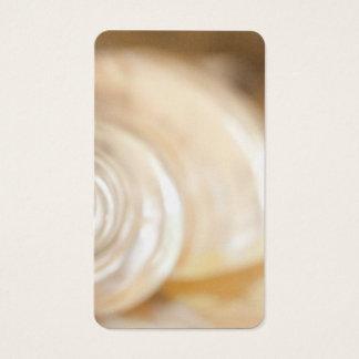De parelachtige Witte Mariene Natuur van Shell van Visitekaartjes