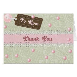 De parels van het moederdag kaart