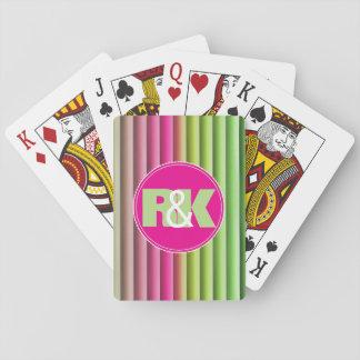 De paren paraferen Genestelde samen Regenboog Pokerkaarten