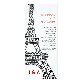 De Parijse Toren van Eiffel van de Uitnodiging van