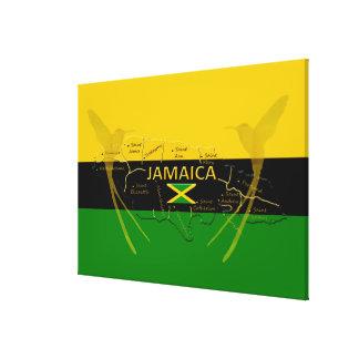 De Parochies van Jamaïca kleurt Zoemende Vogels; Canvas Afdruk