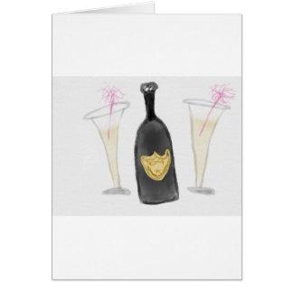 De Partij van Champagne voor 2 Wenskaart