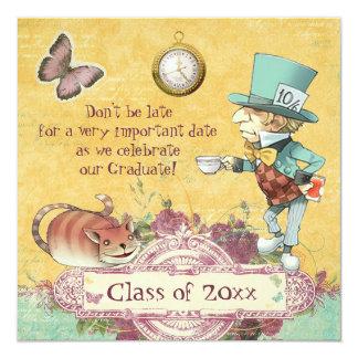 De Partij van de Afstuderen van de gekke 13,3x13,3 Vierkante Uitnodiging Kaart