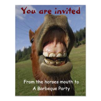 De Partij van de barbecue nodigt met Grappig 10,8x13,9 Uitnodiging Kaart