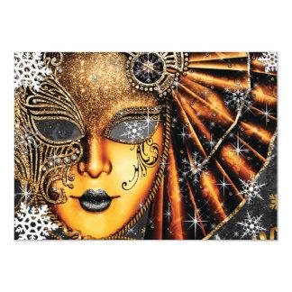 De Partij van de Maskerade van de Nieuwjaren van 12,7x17,8 Uitnodiging Kaart