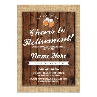 De Partij van de pensionering juicht Bieren toe de 12,7x17,8 Uitnodiging Kaart