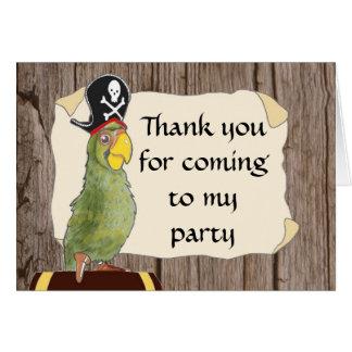 De Partij van de piraat dankt u kaardt Kaart