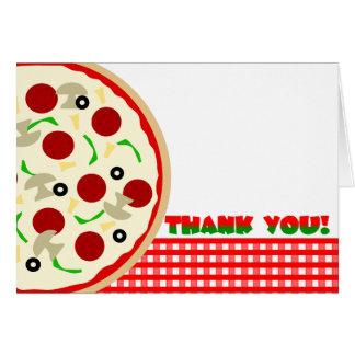 De Partij van de pizza dankt u nota neemt van Briefkaarten 0