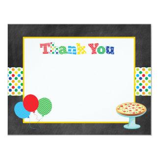 De Partij van de pizza dankt u nota neemt van Kaart