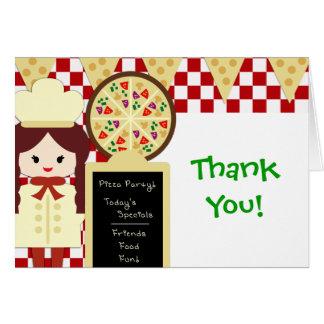 De Partij van de Pizza van KRW dankt u Meisje Kaart