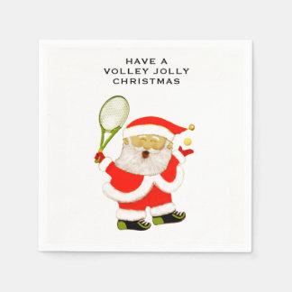 de partij van de tennisvakantie wegwerp servetten