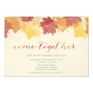 De Partij van de Thanksgiving van de Bladeren van Kaart