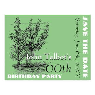 De partij van de tuinman zestigste verjaardag briefkaart