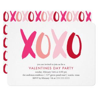 """De Partij van de Valentijnsdag """"XOXO"""" 12,7x17,8 Uitnodiging Kaart"""