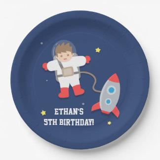 De Partij van de Verjaardag van de Astronaut van Papieren Bordje