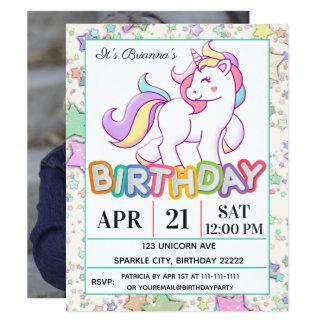 De Partij van de Verjaardag van de eenhoorn Kaart