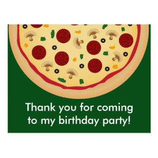 De Partij van de Verjaardag van de pizza dankt u Briefkaart