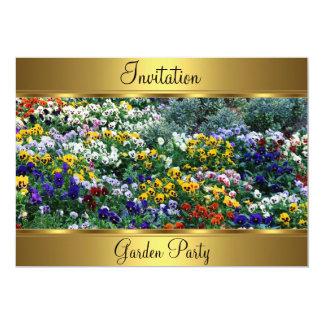 De Partij van de Verjaardag van de tuin vijftigste 12,7x17,8 Uitnodiging Kaart