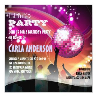 De Partij van de Verjaardag/van de Vrijgezellin 13,3x13,3 Vierkante Uitnodiging Kaart