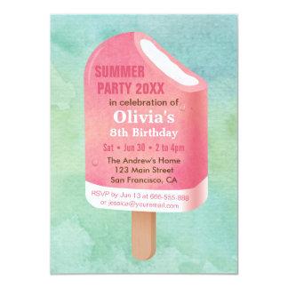 De Partij van de Verjaardag van het Roomijs van de 11,4x15,9 Uitnodiging Kaart