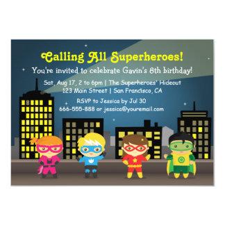 De Partij van de Verjaardag van Superhero van de Kaart